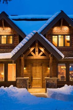 Needs a porch & wrap around deck, but love the look (And the snow of course!)