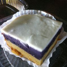 Okinawan sweet potato Haupia bar w/ coconut crust from Coffee Gallery in Haleiwa on the North Shore, Hi