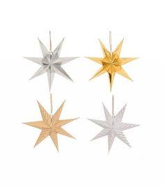 Target Paper Star Ornament