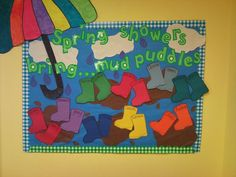 Fantastic bulletin board ideas preschool spring for classroom Preschool Door, April Preschool, Preschool Bulletin Boards, Preschool Activities, Bullentin Boards, Work Activities, Spring Activities, Preschool Lessons, Preschool Kindergarten