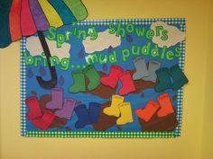 Spring door or bulletin board idea for preschool..