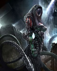 This is what i think of if they had implanted a geth with reaper technology.