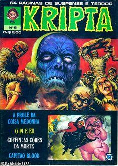 Revista Kripta #8 - RGE (1976) - Quadrinhos de terror, suspense, ficção e sobrenatural