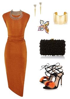 """""""Untitled #864"""" by steflsamour on Polyvore featuring Gianvito Rossi, Elie Saab, Anton Heunis and Jennifer Fisher"""
