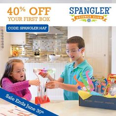 Ignite the spark of science and creativity in your child with a subscription to the Spangler Science Club. Join today and you'll receive Steve Spangler's most amazing hands-on science experiments delivered to your door each month. AD – Look inside the box >>