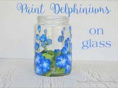 Paint Delphiniums on Glass - Flower Patch Farmhouse