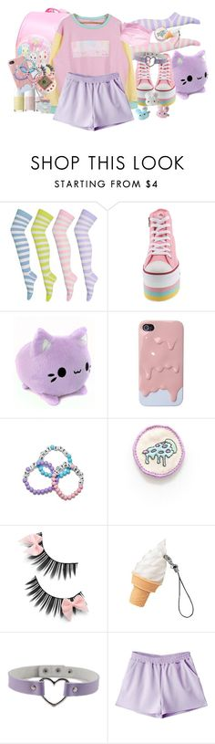 """Your eyes smile"" by bandaidkid ❤ liked on Polyvore featuring cute, pastel, kawaii, harajuku and fairykei"