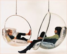 """bubble chair by eero aarnio 1968.  as Ludwig Mies van der Rohe said """"less is more"""""""