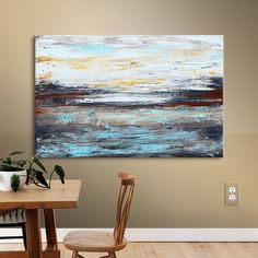 Varick Gallery® Abstract Cold' by Jolina Anthony Framed on Canvas