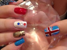 Olympic 2012 freehand nail art