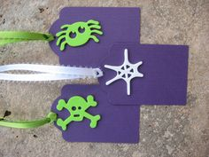 Set of 3 Halloween Gift Tags with a Spider by eyepoppingcreations, $4.00