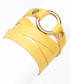 Look at this #zulilyfind! Sun & Gold Dixie Wrap Bracelet by Henri Lou, $47 !!  #zulilyfinds