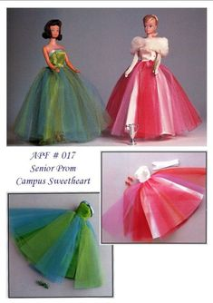 Sewing Barbie Clothes, Barbie Clothes Patterns, Vintage Barbie Clothes, Dress Patterns, Clothing Patterns, Barbie Gowns, Barbie Dress, Barbie Doll, Dolls