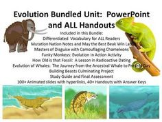 Engage your students with the Evolution bundled unit. Your next few weeks are going to be a breeze with our PowerPoint lessons and handouts that are designed for a literal day-by-day instruction implementation.