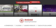 Download Free              Radar - Multipurpose Directory PSD Template            #               auto dealer #city #classified #companies #database #directory #jobs #listings #map #multipurpose #portal #property #real estate #reservation #search