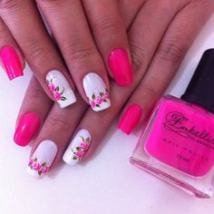 If you're a beginner, then this simple Nail Arts Ideas is for you. Here comes one of the easiest Nail Art Design ideas for beginners. Simple Nail Art yet stunningly beautiful that will get attention from others. Fabulous Nails, Gorgeous Nails, Pretty Nails, Hot Nails, Pink Nails, Hair And Nails, Fingernail Designs, Toe Nail Designs, Pretty Nail Designs