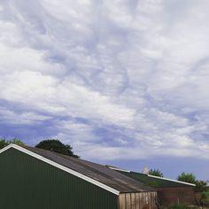 Mooie wolken voor de onweersbui