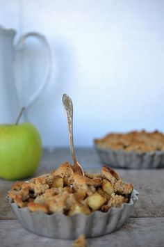 Apfel, apple, crumble, low carb, rezept, backen, kuchen