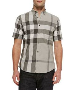 Burberry Brit Exploded Check Short-Sleeve Shirt - Neiman Marcus