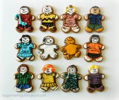 Sugar Swings! Serve Some: Peanuts Gang Gingerbread Men - Gingerbread Blog Hop and Giveaway