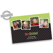 Green and Black Merry Christmas Photo Card
