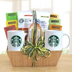 The Perfect Gift Basket - Starbucks Tea and Coffee Basket