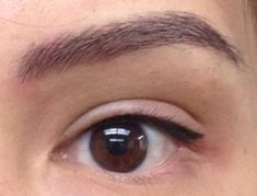 Immediately after hair stroke eyebrow and tighten eyeliner