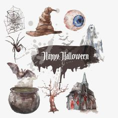 Drawing halloween PNG and Vector