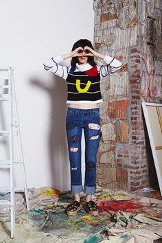 Alice + Olivia Resort 2017 Fashion Show Fashion 2017, Runway Fashion, Fashion Show, Denim Fashion, Resort 2017, Alternative Fashion, Alice Olivia, Everyday Fashion, Vintage Fashion