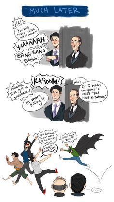 Part 4 - If only the Bat family got along this well. Jason Todd, Dick Grayson, Tim Drake, and Damian Wayne Batman Robin, Batman Meme, Batman Y Superman, Batman Arkham, Nightwing, Batgirl, Batwoman, Math Comics, Marvel Dc Comics