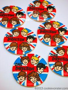 One Direction Custom Cookies