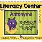 Need a quick fall literacy center for Antonyms. This file just might be what you are looking for. Included is a poster, hands-on activity and indep...