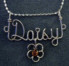 Personalized Jewelry Gold or Silver Wire Name Necklace - want this in gold!