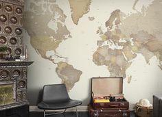 wereld kaart behang