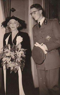 Queen Elisabeth of Belgium. with her grandson, King Baudoin.
