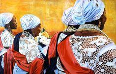 Boa Morte Sisterhood 2 by KEVIN HOLDER, 2006, oil on canvas
