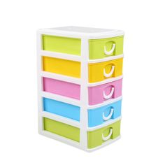 5 Layer Mini Jewelry Storage Box Organizer Small Storage File Locker Drawer Home #Unbranded