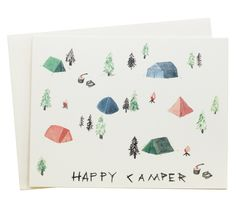 :: happy camper card ::