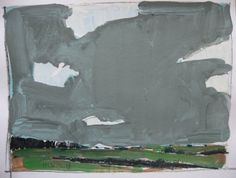 Original Landscape Painting on Paper July Sky by Paintbox on Etsy, $45.00