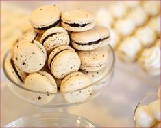 DESSERTS:  • Coconut Cream Pies  • Espresso Macarons with Chocolate Ganache  • Petit Fours with Preserves and Swiss Buttercream  • Individual Strawberry Cheesecakes