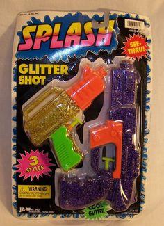 Vintage JA-RU SPLASH - Water Guns Pistols - Glitter Shot - Bright Colors - 1998 #JARU