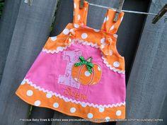 Pumpkin First Birthday Dress Pumpkin Princess by preciousbabybows