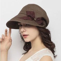 Fashion bow straw flat cap for women package sun hats summer wear