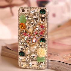 Bling iphone 5 case,clear iphone 5 case,iphone 5s case,iphone 4 4s case,iphone 4 case floral,hard case,crystal cover for iphone 5 case.