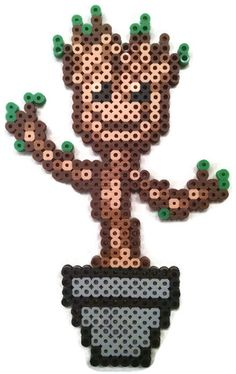 Made to Order Groot Magnet Perler Beads by TheAbsity on Etsy, $8.00
