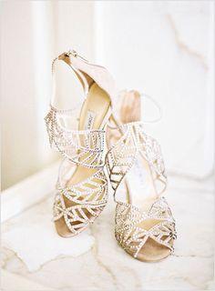 Silver Bridal Pumps