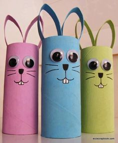 Billedresultat for påskepynt Preschool Crafts for Kids*: Easter Bunny Toilet Roll Craft 60 Homemade Animal Themed Toilet Paper Roll Crafts in Toilet Paper Roll Crafts DanielleHunter GlueDots Easter Craft Toilet Paper Roll 661800 pixels Link takes you to Bunny Crafts, Crafts For Kids To Make, Easter Crafts For Kids, Toddler Crafts, Easter Ideas, Unicorn Crafts, Easter Activities, Craft Activities, Preschool Crafts