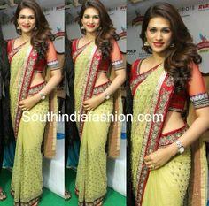 Shraddha Das in Beautiful Saree ~ Celebrity Sarees, Designer Sarees, Bridal Sarees, Latest Blouse Designs 2014