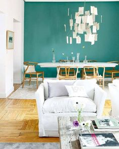Love the accent wall colour