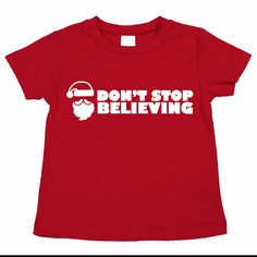 Don't Stop Believing. Pictures with Santa T by funkycoolthreads